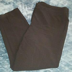 Nine West Black Straight Leg Pant Sz 16
